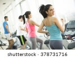 young people training in the gym | Shutterstock . vector #378731716