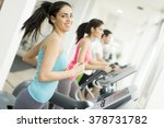young people training in the gym | Shutterstock . vector #378731782