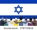 israel country flag liberty... | Shutterstock . vector #378733816