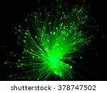green light from fiber optic | Shutterstock . vector #378747502