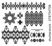 set of hand drawn ethnic  tribe ...   Shutterstock .eps vector #378754708