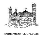 mosque. doodle stye   Shutterstock .eps vector #378761038
