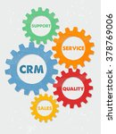 crm  support  service  quality  ... | Shutterstock . vector #378769006