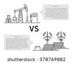 oil production versus electric... | Shutterstock .eps vector #378769882