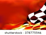 checkered flag background and... | Shutterstock .eps vector #378775546