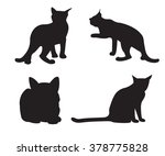 set of cats silhouettes... | Shutterstock .eps vector #378775828