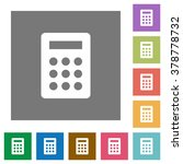 calc flat icon set on color...
