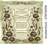 vintage flowers | Shutterstock .eps vector #37878598