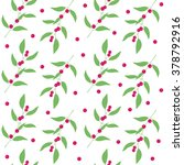 seamless pattern branches and... | Shutterstock .eps vector #378792916