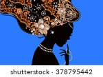 silhouette of beautiful woman... | Shutterstock .eps vector #378795442