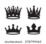 vector black crown icons on...