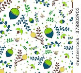 floral seamless pattern with...   Shutterstock .eps vector #378803902