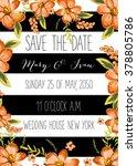 save the date design. wedding... | Shutterstock .eps vector #378805786