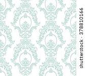 vector vintage damask pattern...   Shutterstock .eps vector #378810166