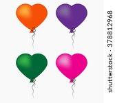 heart balloons | Shutterstock . vector #378812968