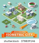 build your own isometric city.... | Shutterstock .eps vector #378839146