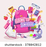 vector colorful illustration of ... | Shutterstock .eps vector #378842812