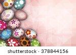 easter eggs on pink background | Shutterstock . vector #378844156