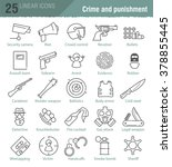 vector linear icons set for... | Shutterstock .eps vector #378855445