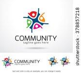 community logo template design... | Shutterstock .eps vector #378857218
