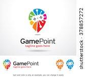 game point logo template design ... | Shutterstock .eps vector #378857272