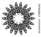 mandala. floral ethnic abstract ... | Shutterstock .eps vector #378858262