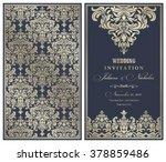 wedding invitation cards ... | Shutterstock .eps vector #378859486