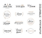 hand drawn logo templates... | Shutterstock .eps vector #378869332