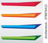 banners set colorful | Shutterstock .eps vector #378876412