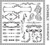 swirl luxury set is isolated on ... | Shutterstock . vector #378884245