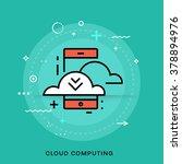 mobile application development... | Shutterstock .eps vector #378894976