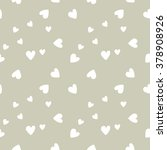 seamless pattern with hearts... | Shutterstock .eps vector #378908926
