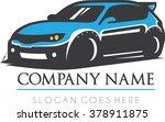 sport rally car logo rental... | Shutterstock .eps vector #378911875