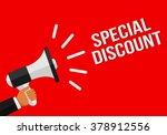 special discount megaphone... | Shutterstock .eps vector #378912556