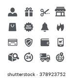 e shopping icons    utility... | Shutterstock .eps vector #378923752