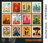 postage stamps  cities of the... | Shutterstock .eps vector #378930802