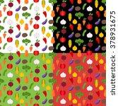 colorful vegetables seamless... | Shutterstock .eps vector #378931675