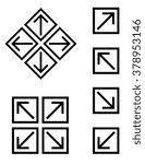 vector arrow set | Shutterstock .eps vector #378953146