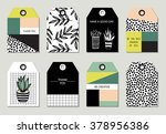 collection of 8 creative tag... | Shutterstock .eps vector #378956386