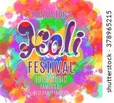 holi festival poster. template... | Shutterstock .eps vector #378965215