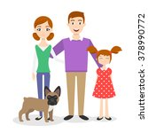vector family portrait  mom ... | Shutterstock .eps vector #378990772