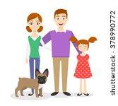 vector family portrait  mom ... | Shutterstock .eps vector #378990772