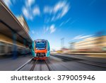 high speed train with motion...   Shutterstock . vector #379005946