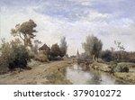 Landscape At Kortenhoef  By...