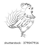 cartoon rooster. isolated...