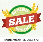 spring rounded button and...   Shutterstock .eps vector #379061572