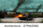 Постер, плакат: A German panzer tank