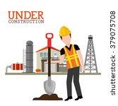 under construction design  | Shutterstock .eps vector #379075708
