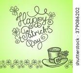 saint patrick's day card. hand ... | Shutterstock .eps vector #379086202