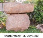 Big stone in the park around Phuket Big Buddha public park area, Phuket, Thailand - stock photo